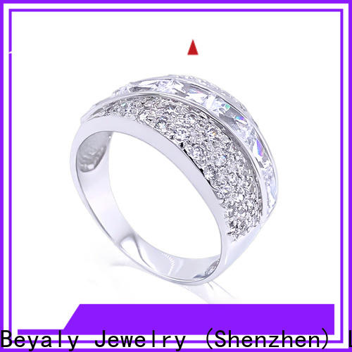 BEYALY silver initial ring Supply for daily life
