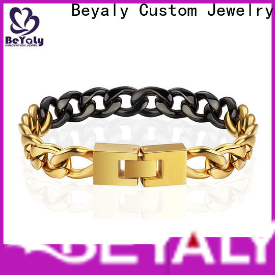 BEYALY leather sterling silver bangle bracelets for business for advertising promotion