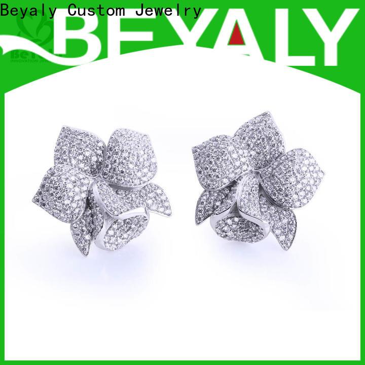 BEYALY design zirconia stud earrings factory for women