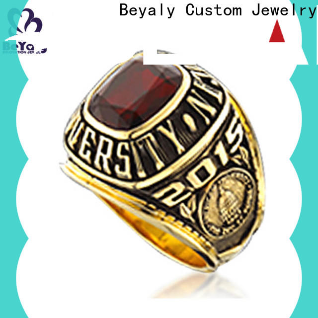long lasting graduation class rings blue factory for students