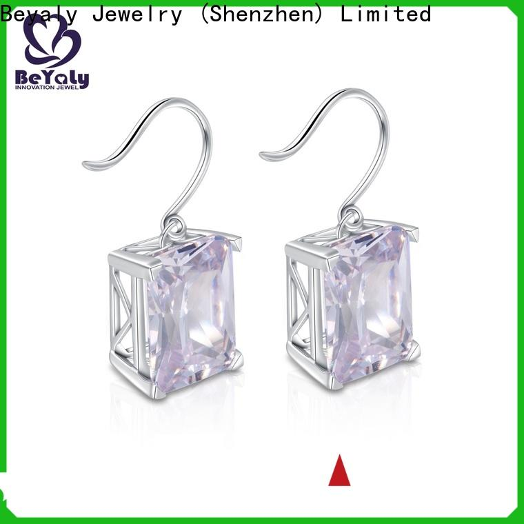 fashion cubic zirconia earrings white Supply for exhibition