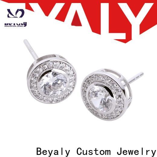 classic zircon earring clear for women