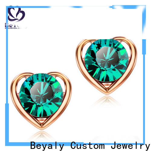 High-quality cz stud earrings sterling Suppliers for women
