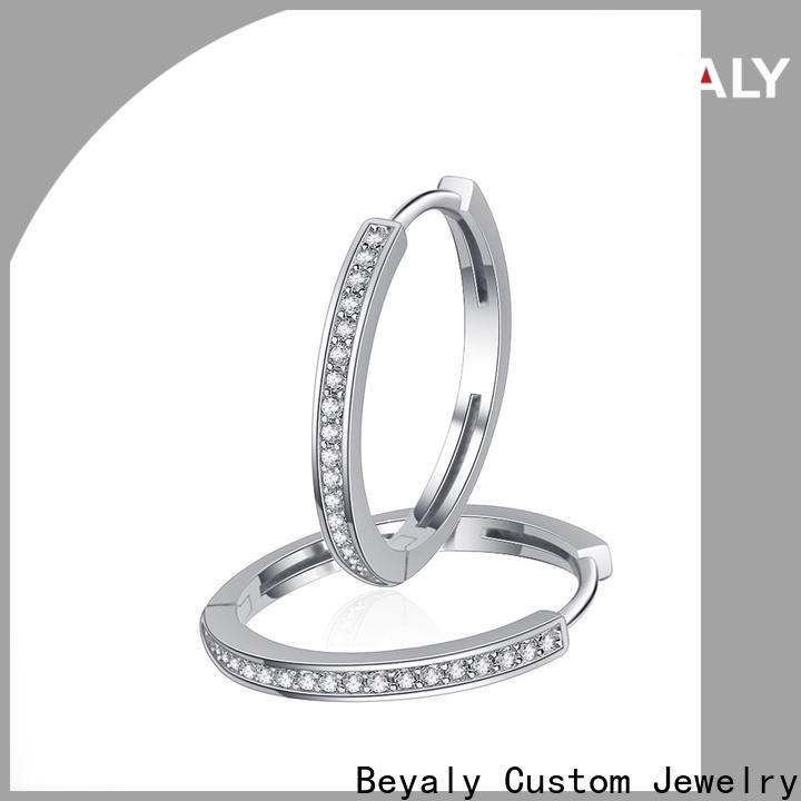 BEYALY small white gold diamond earrings prices manufacturers for anniversary celebration