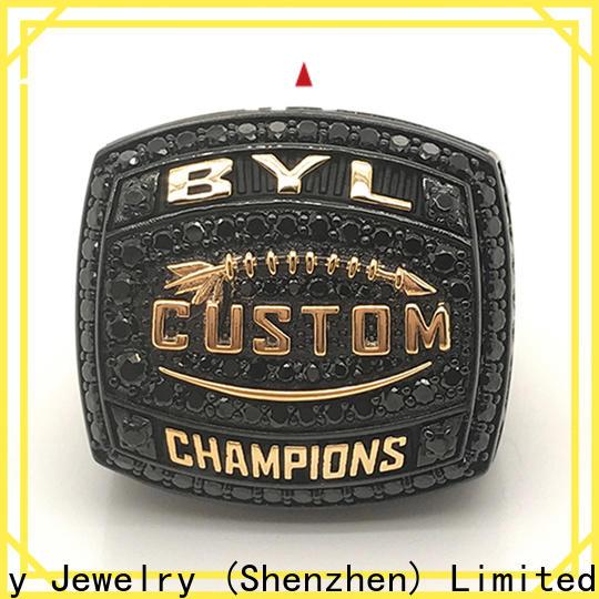 New custom championship rings green for athlete