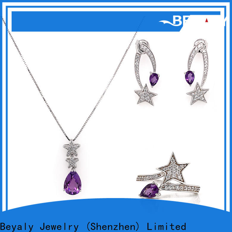 BEYALY earrings with matching necklace Supply for ceremony