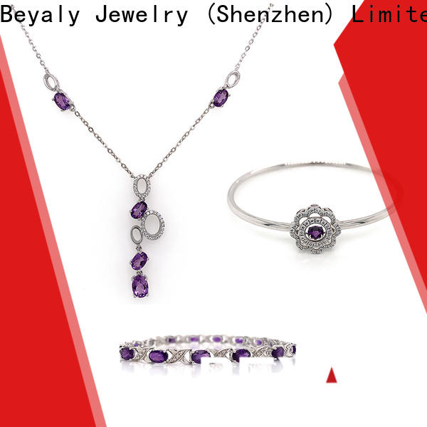 Latest cheap silver jewelry sets Supply for business gift