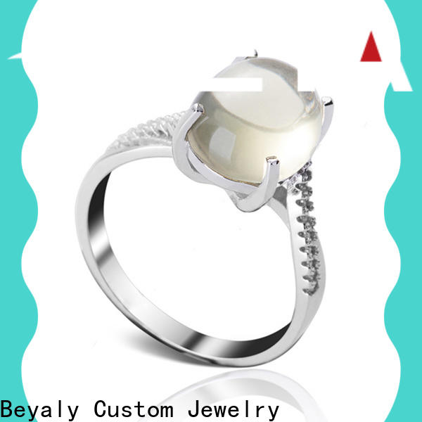 BEYALY stone best engagement ring bands for business for men