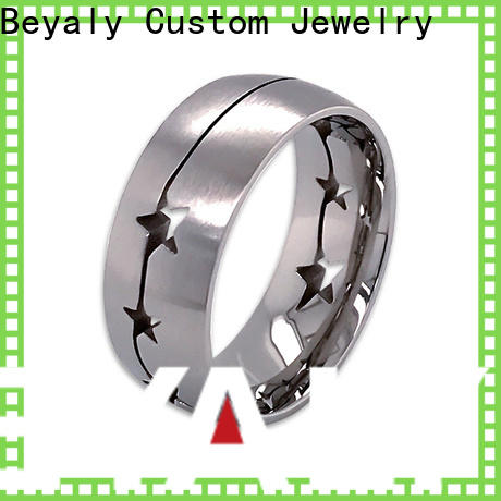 BEYALY zircon gold inital ring Supply for wedding