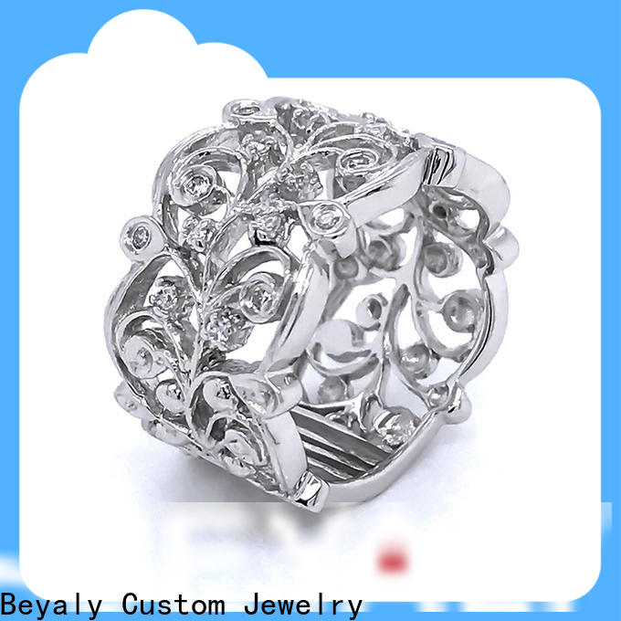 BEYALY zircon biggest solitaire diamond ring company for women