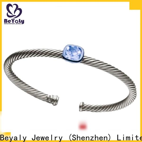 BEYALY popular sterling silver cuff bracelet Supply for advertising promotion