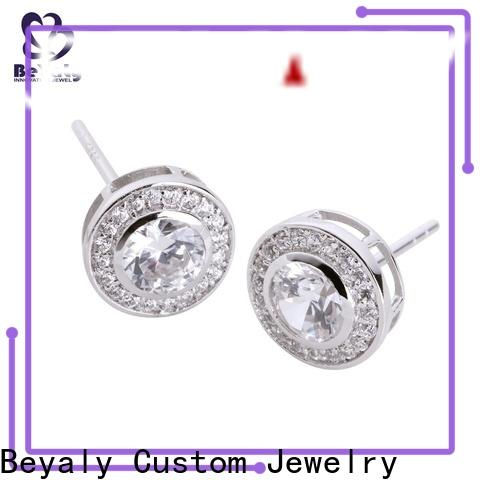 BEYALY Wholesale white gold diamond earrings prices Suppliers for business gift