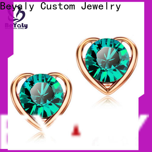 Wholesale zircon earring flower Suppliers for anniversary celebration