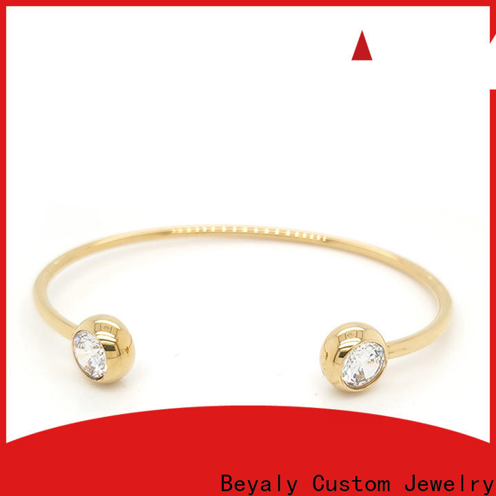 BEYALY High-quality thin bangles with charms Supply for anniversary celebration