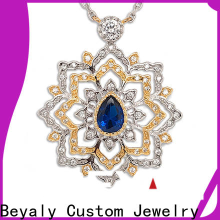 BEYALY unique silver pendant necklace factory for girls