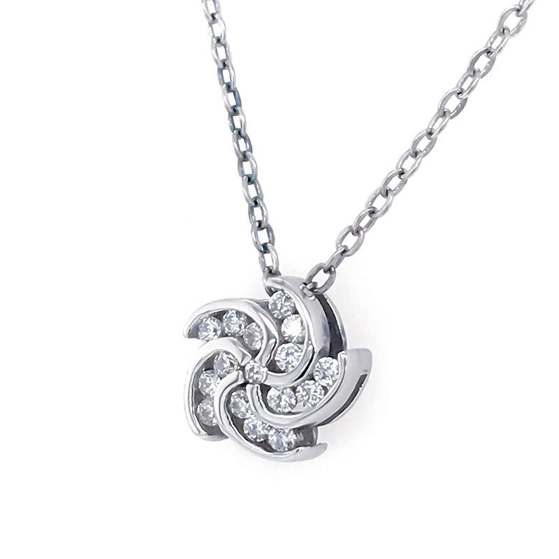 product-925 Sterling Silver Pendant Necklace Charm Whirlwind Necklace Romantic Chinese ValentineS Da-1