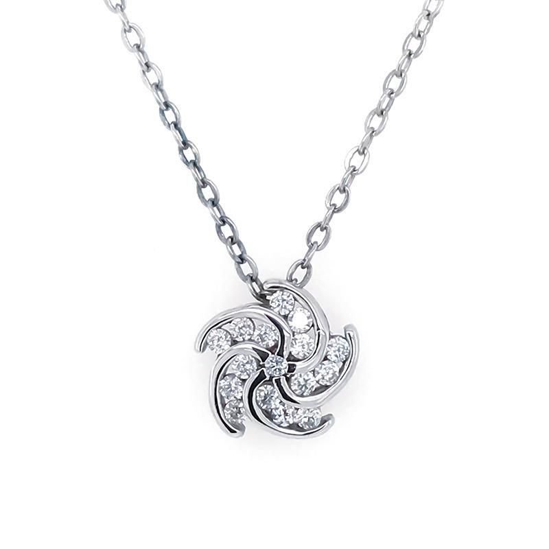 product-BEYALY-925 Sterling Silver Pendant Necklace Charm Whirlwind Necklace Romantic Chinese Valent