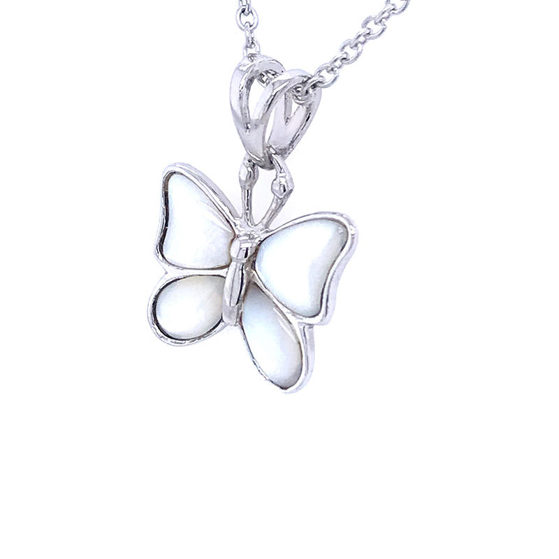 product-Nice design white shell pave butterfly pendant-BEYALY-img-1