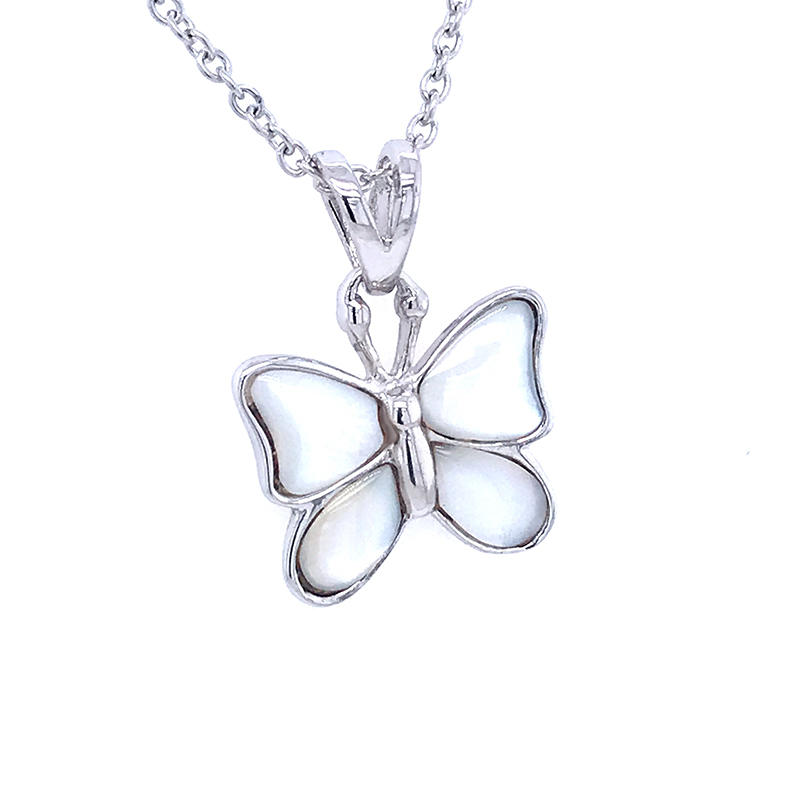 product-BEYALY-Nice design white shell pave butterfly pendant-img