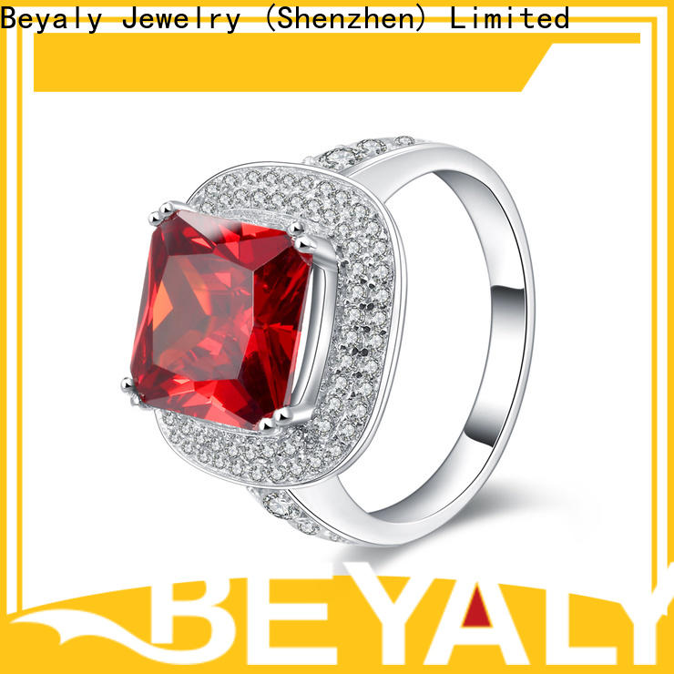BEYALY zircon rings popular factory for women