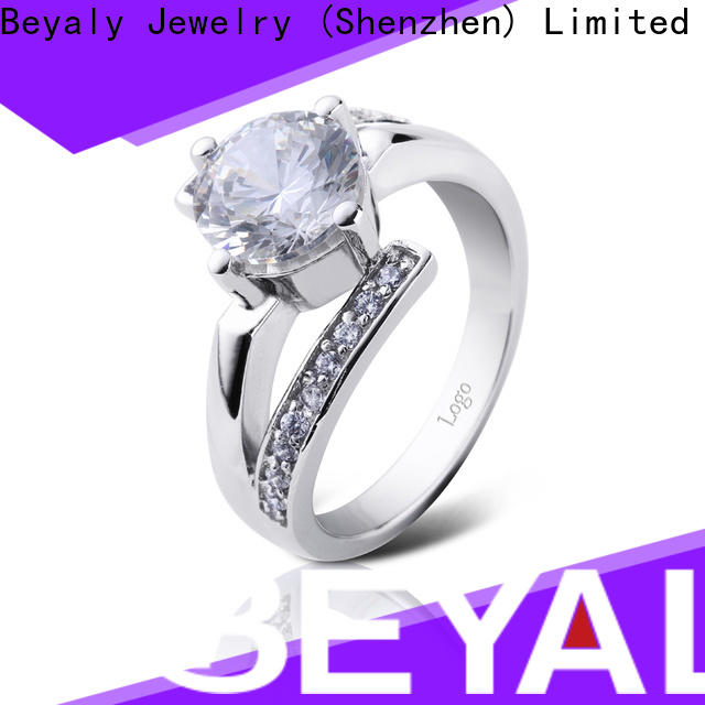 BEYALY New most popular halo engagement rings factory for women