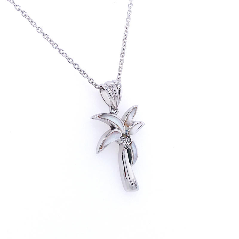 product-BEYALY-Summer Style Sandbank Wear Coconut Tree Pendant With White Shell Designs-img