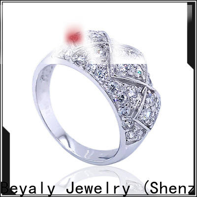 New gold inital ring steel Supply for wedding