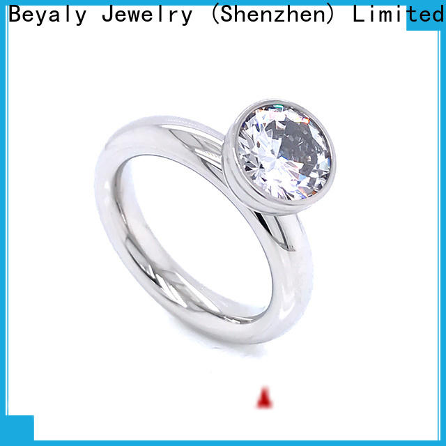 BEYALY customized sterling silver cubic zirconia rings Suppliers for wedding