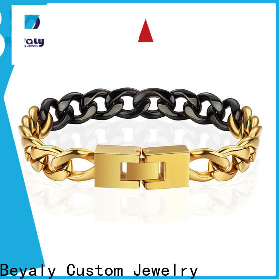 New gold bangle bracelet with circles leather for advertising promotion