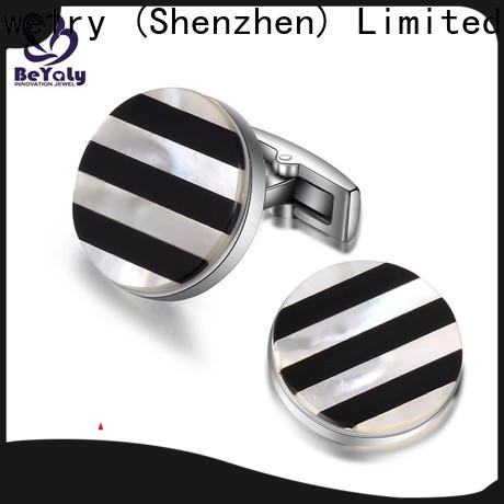 BEYALY cuff mens silver cufflinks engraved manufacturers for anniversary for celebration
