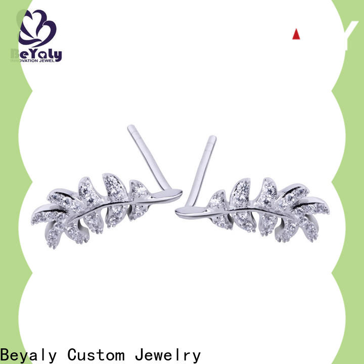 BEYALY flower circle stud earrings factory for women