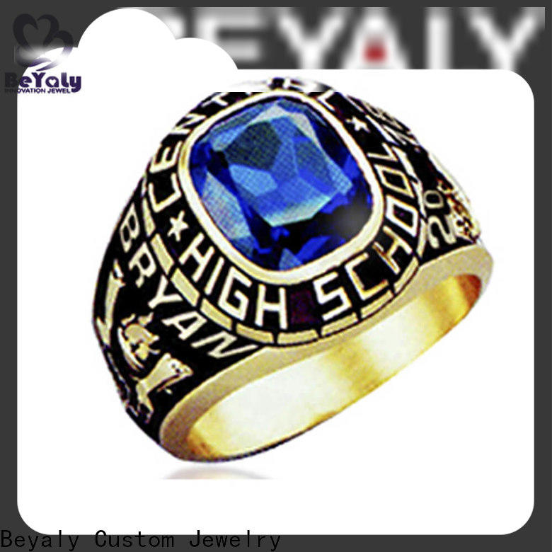 BEYALY plated gold american college rings for business for school