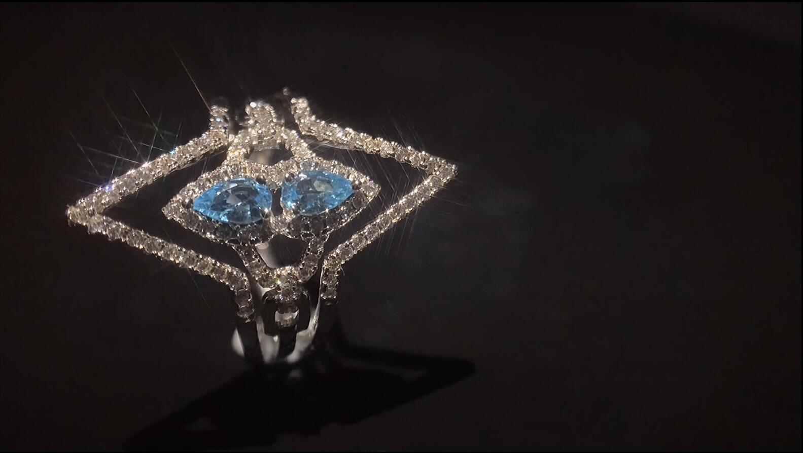 Diamond Shape design geometry series Ring