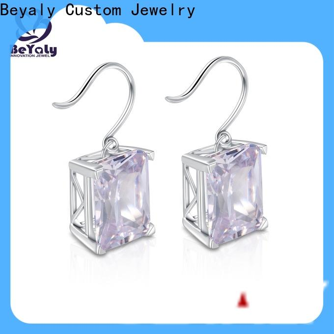 special cubic zirconia earrings gemstone factory for advertising promotion