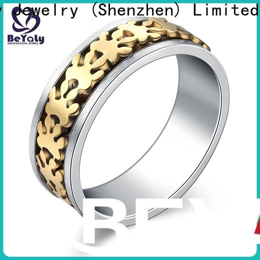 BEYALY design good size wedding band factory for men