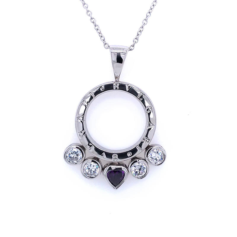 product-BEYALY-2020 Sterling Silver Pendant necklace accessories jewelry Inlay zircon slider Pendant