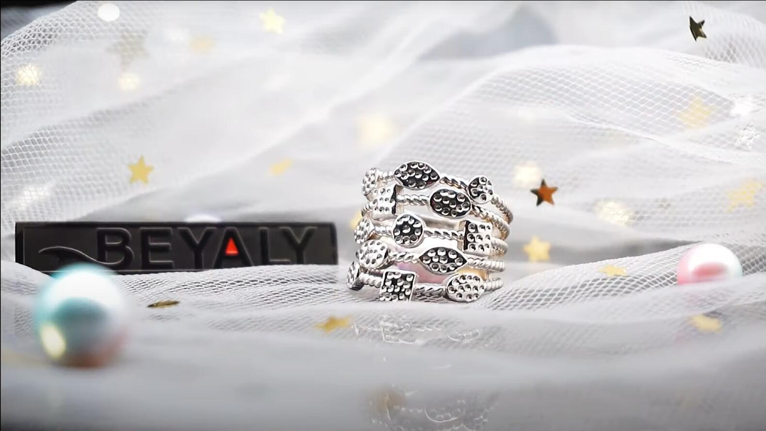 Fashion women silver multi layer Ring