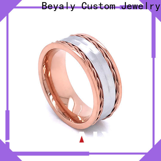 customized most popular wedding ring designs stainless factory for women