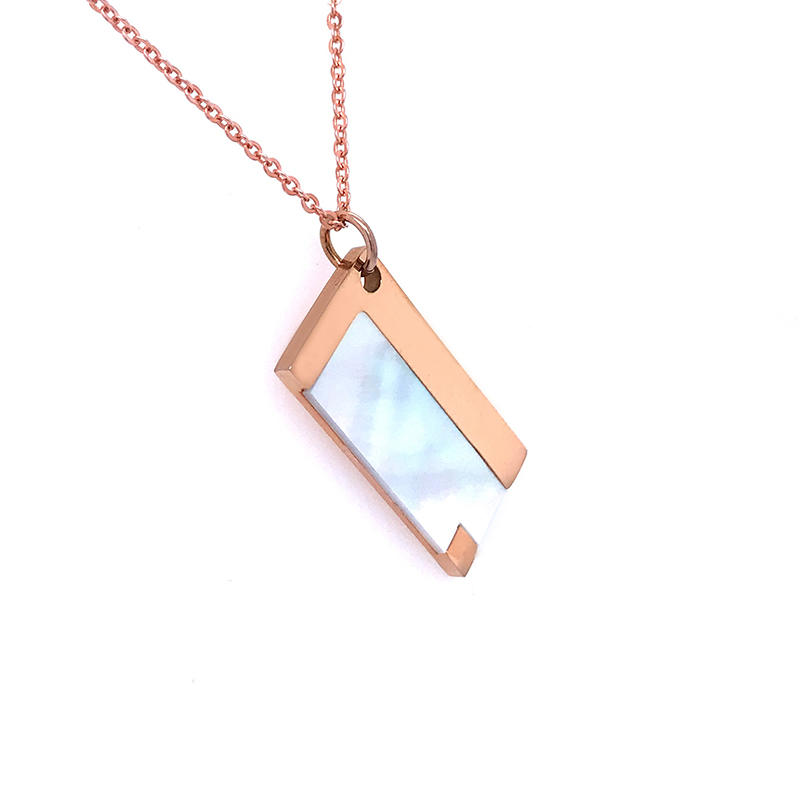 product-Custom design Stainless Steel Personalized Engraving Name pearl shell inlay pendant-BEYALY-i-1