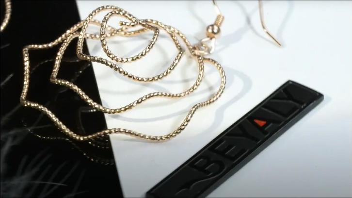 Beyaly Jewelry | Wire bending flower shape design full pave zircon earring