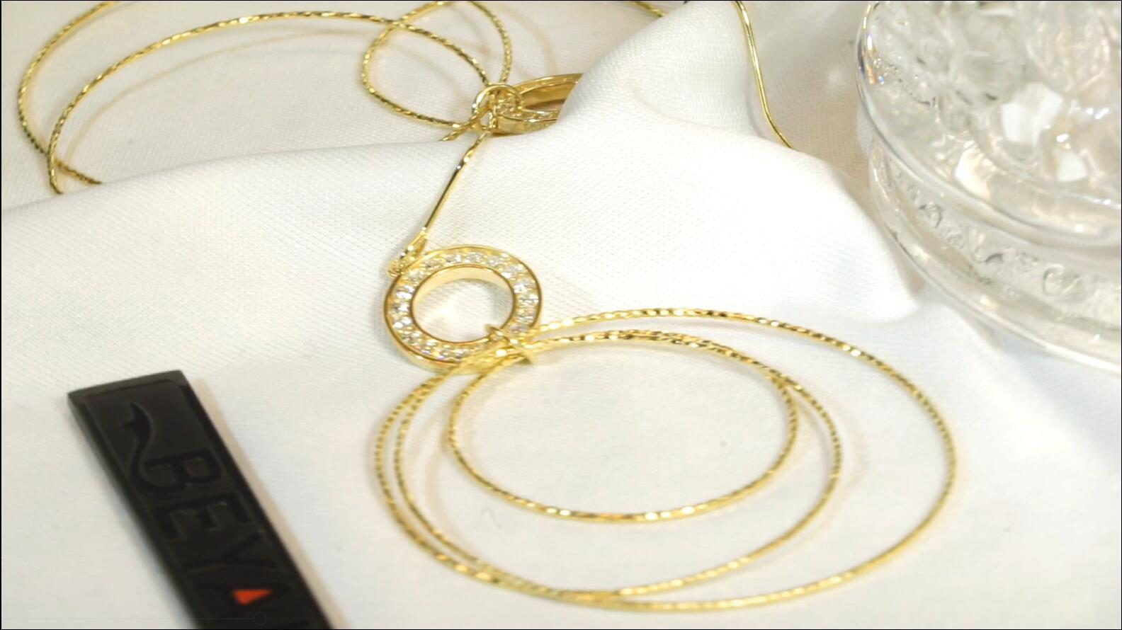 Elegant design gold plated sterling silver multi hoop earrings