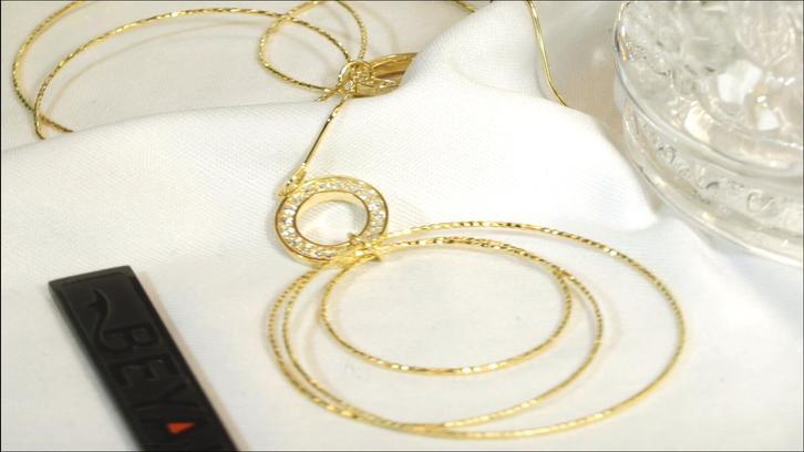 Elegant design gold plated sterling silver multi hoop earrings