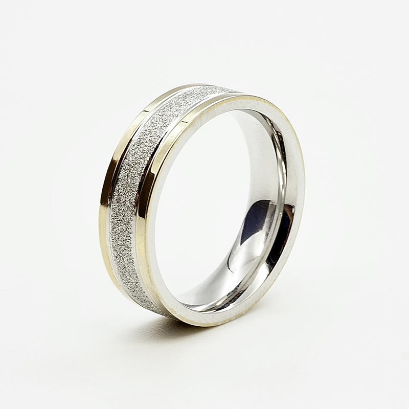 product-Wholesale Fashion Luxury 18k gold plated rings Stainless Steel without stones mens rings des-1