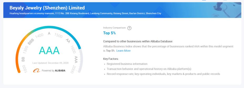 We get AAA level Certification in Alibaba!