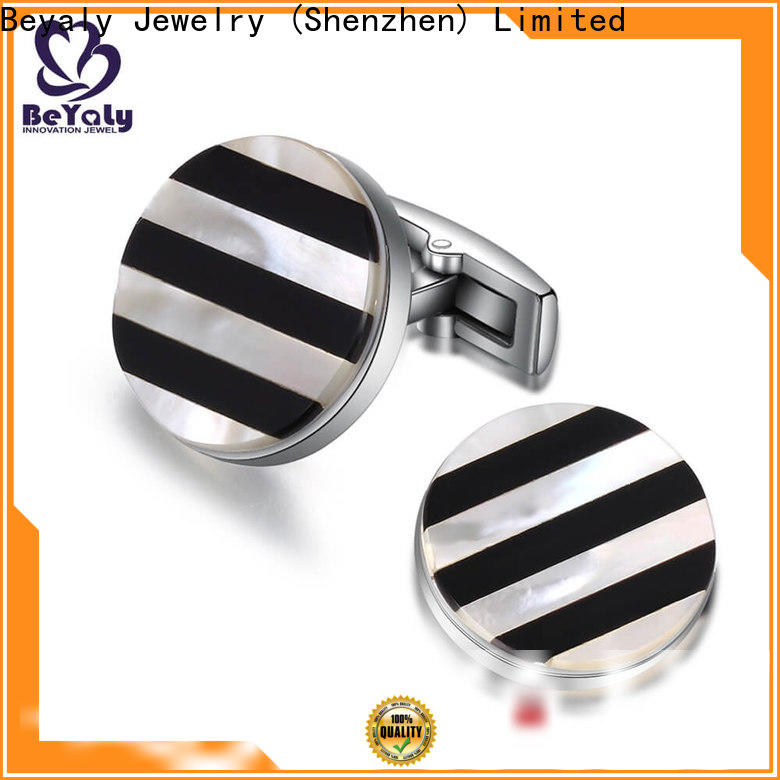 Custom best silver cufflinks brass factory for ceremony for advertising promotion