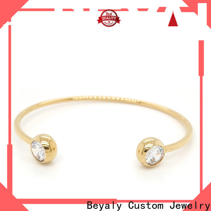 Custom silver bangles and bracelets style company for advertising promotion