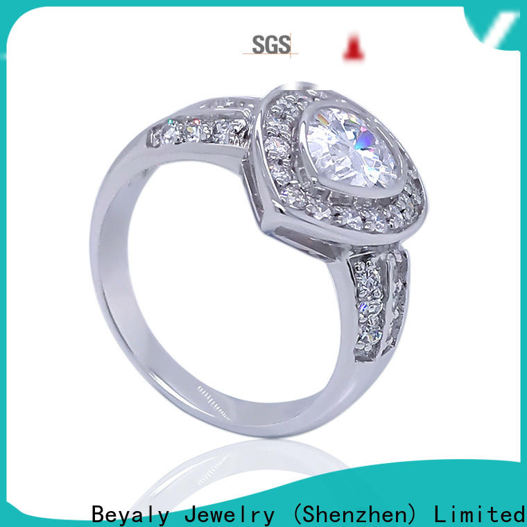 Top most popular engagement ring settings plated factory for women