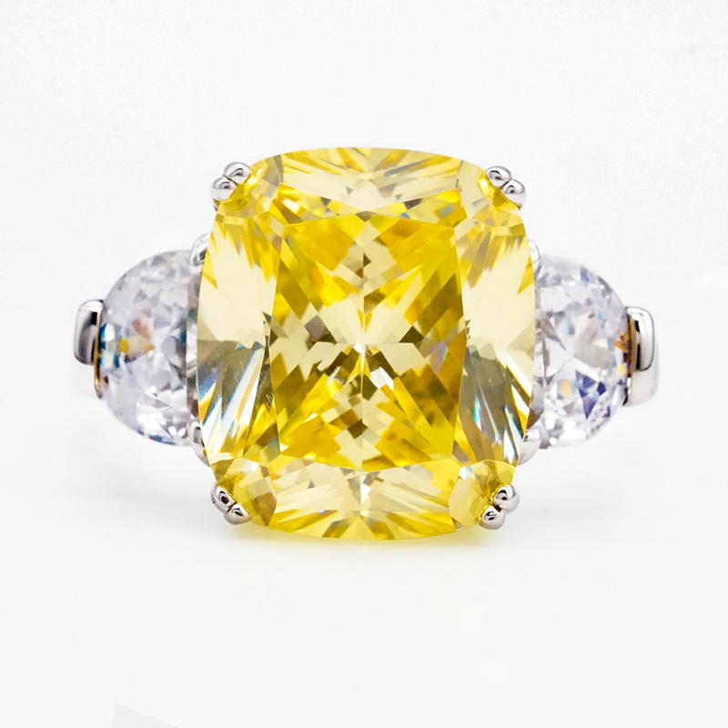 product-BEYALY-2020 New design yellow stone crysta ring 925 Sterling Silver Engagement Ring-img