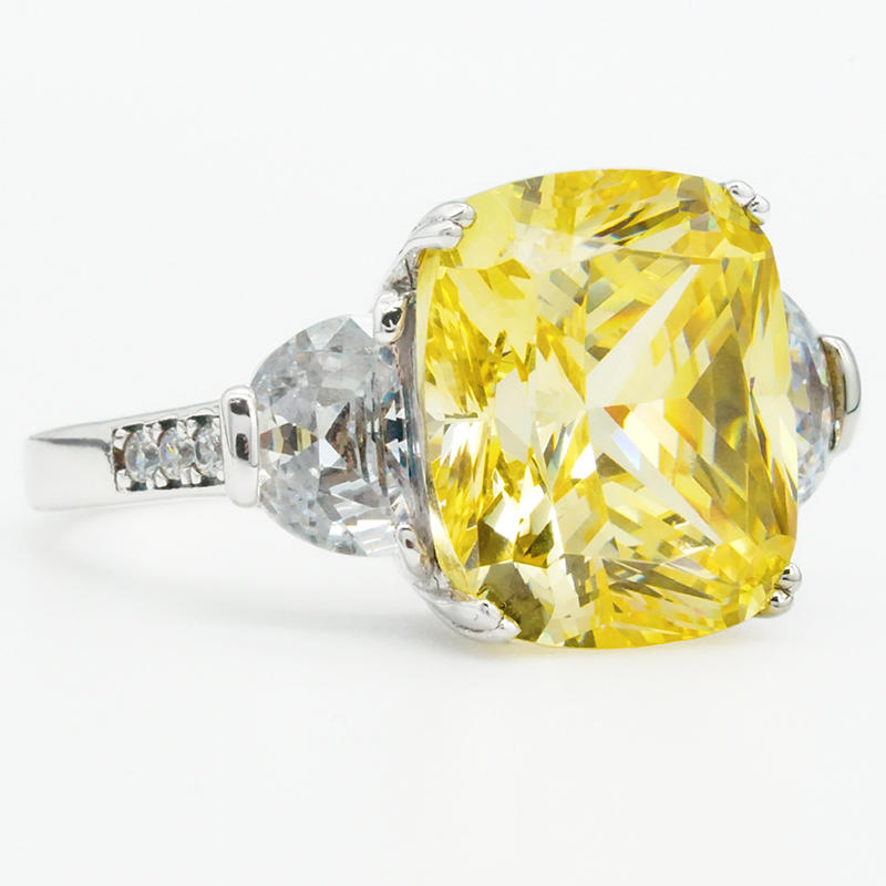 product-2020 New design yellow stone crysta ring 925 Sterling Silver Engagement Ring-BEYALY-img-1