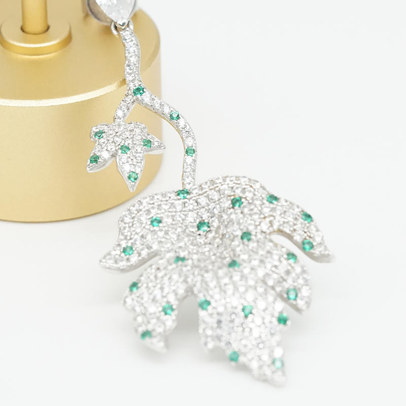 product-BEYALY-Custom 925 Wholesale Silver Earrings Jewelry Online For Women AAA CZEmerald Color Sto
